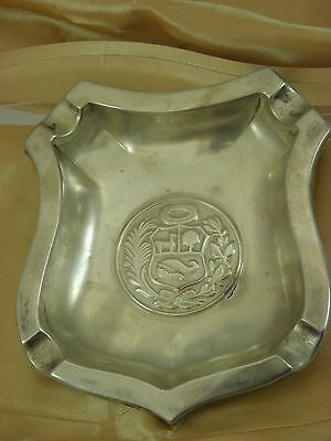 Peruana Plata 925 Sterling Silver Ashtray