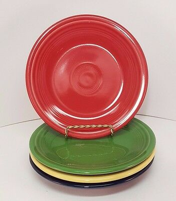 Fiestaware mixed colors Salad Plate Lot of 4 Fiesta 7.25 inch small plate 4C3M10
