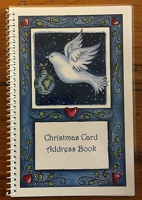 CHRISTMAS CARD ADDRESS BOOK List Keeper Organizer 8 yrs Dove Personalized Gift