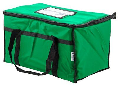 Insulated Nylon Food Delivery Bag Pan Hot Cold Carrier Restaurant Green New