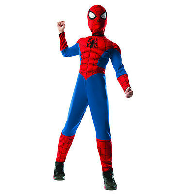 Rubie's Costume Spider-Man  Muscle Chest  Kids Size Large (8-10)  Licensed 16839