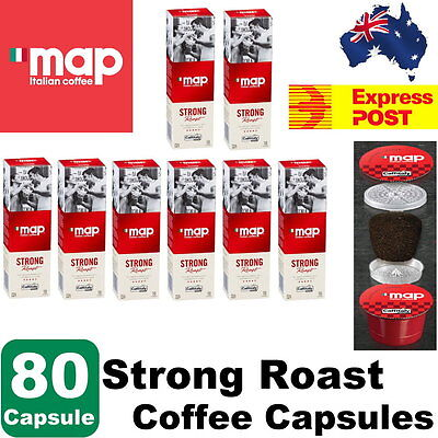 Map Italian Coffee 80 Capsules Strong Roast Coffee Capsules - Express Post