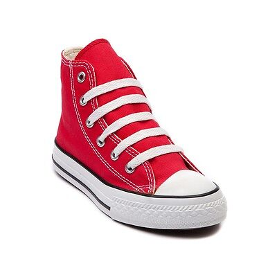 f4554a5f491ee2 CONVERSE All Star Chuck Taylor Hi Top RED 3J232 KIDS Unisex Canvas Sneakers