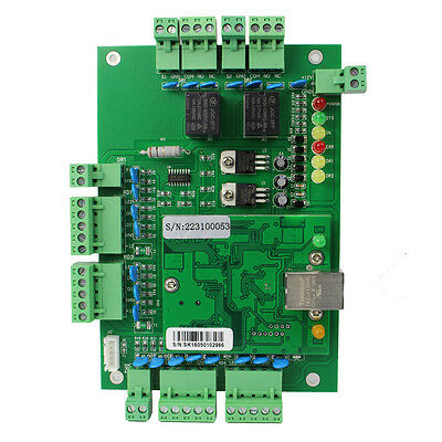 TCP/IP Network Access Control Board Panel Controller for 2*Door 4*Reader+track