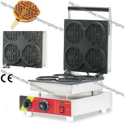 Commercial Nonstick Electric Bear Waffle on A Stick Maker Iron Baker Machine
