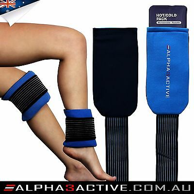 Gel pack wrap w/ elastic strap: back, knee, ankle, shoulder, elbow, wrist, neck