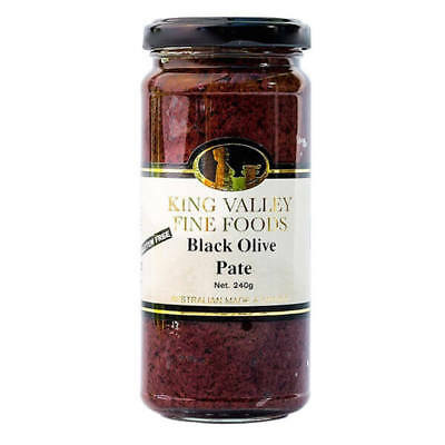 NEW King Valley Fine Foods Black Olive Pate 240g