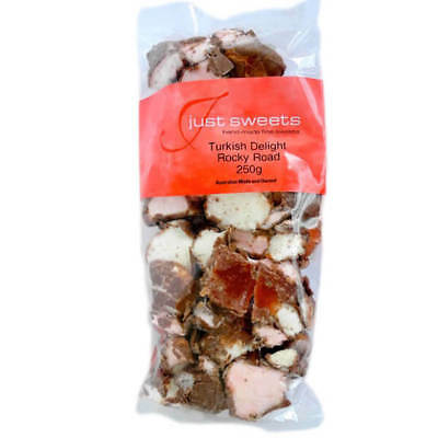 NEW Just Sweets Turkish Delight Rocky Road 225g