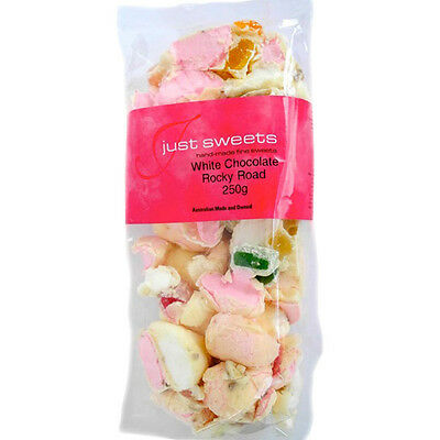 NEW Just Sweets White Chocolate Rocky Road 225g