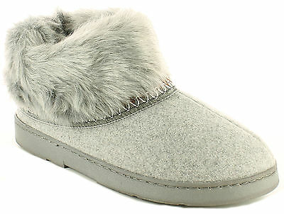New Ladies/Womens Grey Strollers Cal Easy On/Off Ankle Bootee Slippers UK SIZES