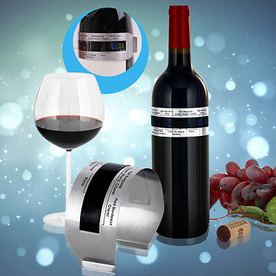 Stainless Steel LCD Electric Red Wine Digital Thermometer Temperature Meter J#~
