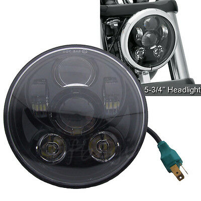 """5.75"""" Motorcycle 5-3/4'' LED Headlight Daymaker Projector DRL For Harley Jeep"""