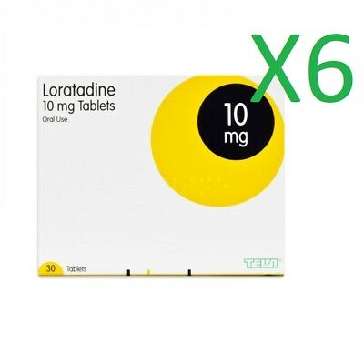 6 months supply TEVA Loratadine 10mg tablets, ( 6 x 30 per pack )