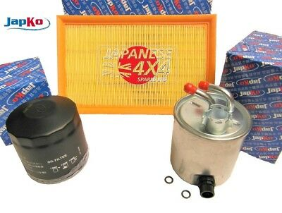 fits: NISSAN NAVARA D40 2.5TD 2006-16 *QUALITY OIL/AIR/FUEL FILTER SERVICE KIT*