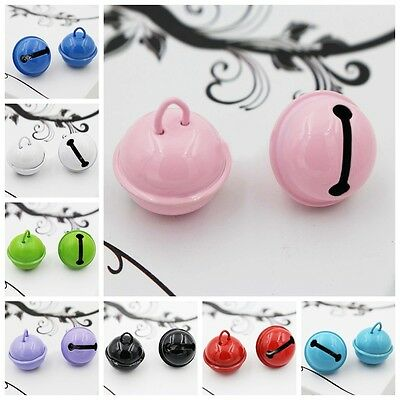 Pretty 2Pc Colorful Jingle DIY Round Bells Decoration Jewelry Craft Pendant New
