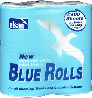 Elsan Blue Toilet Roll - Pack of 4 - For Chemical and Cassette Toilet Systems