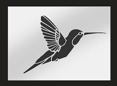 Hummingbird Stencil Perfect for Airbrushing & Painting On Walls & Fabric