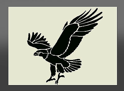Soaring Eagle Stencil - Sizes from A5 - A1 - Made From High Quality Mylar