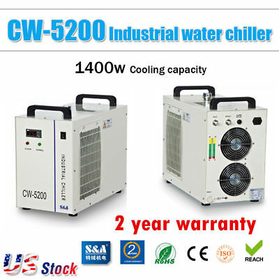 USA! S&A 110V 60Hz CW-5200DG Water Chiller for 130W / 150W CO2 Laser Tube