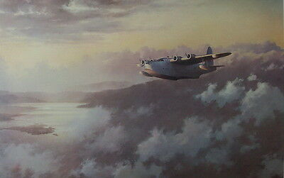 Evening Patrol RAF Coastal Command Short Sunderland Print by John Young