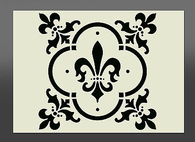 Fleur De Lis Americana Stencil - Various Sizes -Made From High Quality Mylar