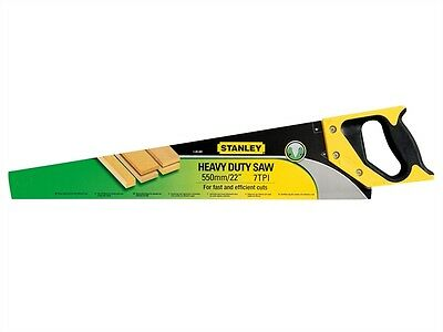 """Stanley STA120091 Hand Saw 22"""" Inch 7tpi 550mm 1-20-091 Hard Point Teeth New"""