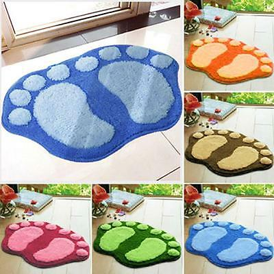 Soft Floor Rug Carpet Bath Pedestal Mat Bathroom Shower Toilet Non slip Pad FB