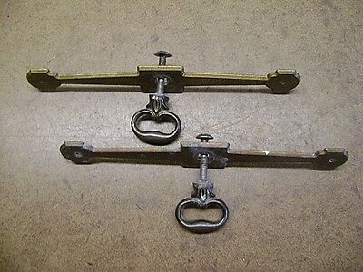 Old Tools Nice Pair of Brass Drawer Pulls Cabinet Dresser Nightstand Nice Patina