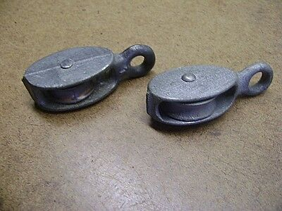 Old Tools Small Pair of Galvanized Boat Pulleys 1 is W&C Boat Dock Room Decor