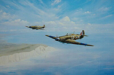 The Weekenders Print By Trevor Lay Hawker Hurricane and Spitfire Aviation Art
