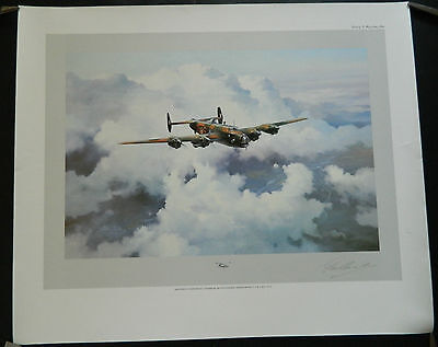 Handley Page Halifax Print by Robert Taylor Signed By Don Bennett Pathfinders
