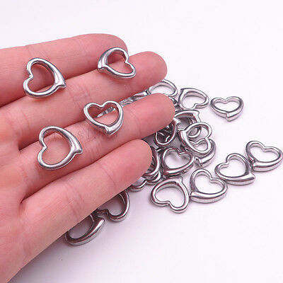Wholesale Small heart pendant jewelry findings stainless steel DIY charm