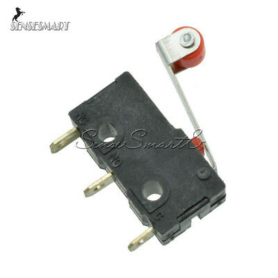 10Pcs Micro Roller Lever Arm Normally Open Close Limit Switch KW12-3