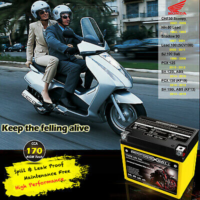 Scooter Battery Honda  PCX125 PCX150 SH150i SCV100 Lead NH80 CHF50 NPS50 YTZ7S
