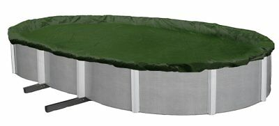 Winter Pool Cover Above Ground 18X34 Ft Oval Arctic Armor 12 Yr Warr. w/ Clips