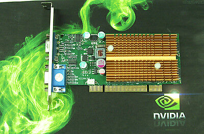 PCI dual VGA video graphics card nVIDIA GeForce 6200 128MB DDR silent by JATON