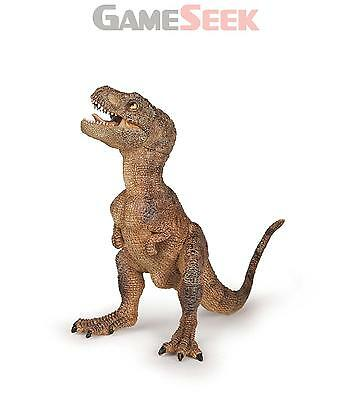 Papo The Dinosaurs Hand Painted Brown Baby T-Rex Toy Figure - Toys Brand New