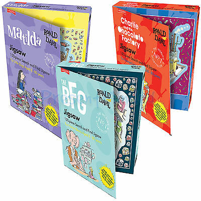 Roald Dahl 150 Piece Search and Find Jigsaw Home Gift Game Kids Party Fun Game