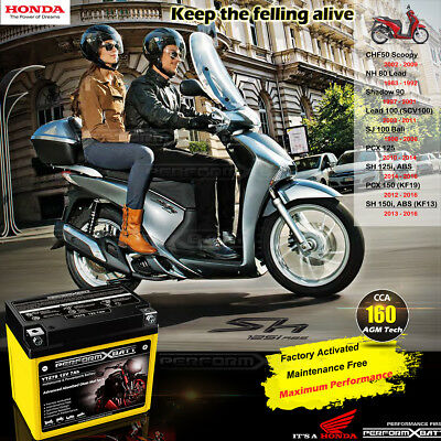 AGM YTZ7S Honda Scooter Battery Gyro Shadow 90 NH80 Lead SCV 100 PCX125 PCX150