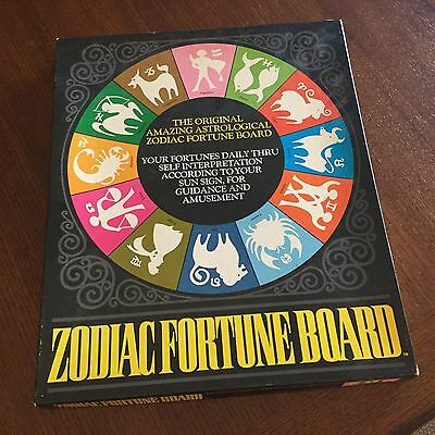 Zodiac Fortune Board Game - Horoscope/Astrology Game w/ Cards - 1975