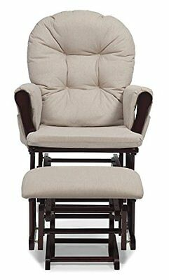 NEW Stork Craft Hoop Glider and Ottoman Set Cherry/Beige FREE SHIPPING
