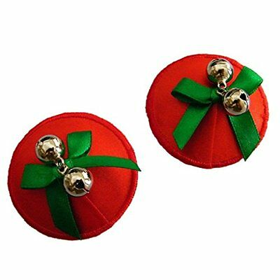 NEW Red Christmas/Holidays Nipple Covers with bells Wedding/Valentine/Birthday