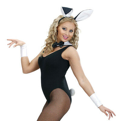 Rabbit Fancy Dress Bunny Set Ears Collar Tail Cuffs Sexy Hares Costume