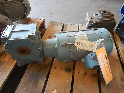 Electra Gear 25HGC14500E/C Reducer & Motor 60:1 Ratio 3/4 HP 230/460 Volts