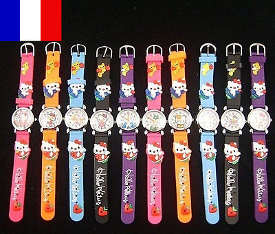 Montre 3D Enfant Hello Kitty Fashion 10 couleurs