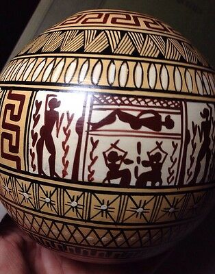 Attic Geometric 800 BC Handpainted Greek Pottery Museum Reproduction