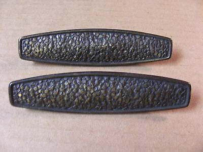 (2) Vintage Brass Finish Drawer Pulls / Handles -- Screws Included