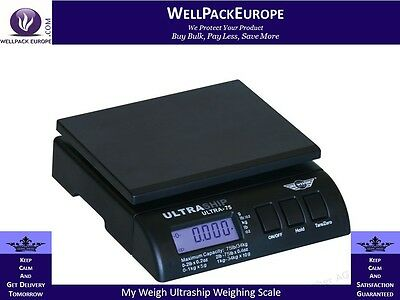 MY WEIGH ULTRASHIP 75 DIGITAL POSTAL SCALES - To 34KG -  FREE 24Hrs Delivery
