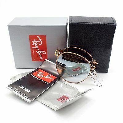982eef39e7baa New Ray Ban 3532 Folding 198 9U Bronze Grey Mirror New Authentic Sunglasses