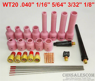 TIG Torch Gas Lens Nozzle parts Kit for WP-9 WP-20 WP-25